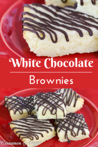 Rich, soft and chewy with a delicate white chocolate flavor, these White Chocolate Brownies make a nice after dinner dessert or a mid-afternoon treat.