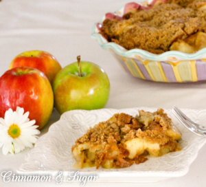 Farmer's Daughter Apple Crisp relies on simple, tasty ingredients that are farm-fresh to create a homey, comforting dessert.