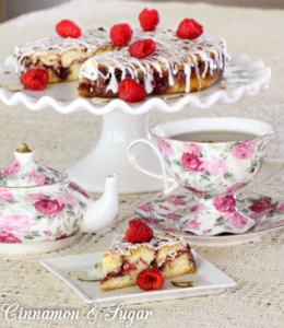 Raspberry-Almond Deep-Dish Coffee Cake uses both fresh raspberries & raspberry jam with a fuss-free batter allowing you to get it on the table quickly.
