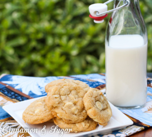Aloha Mix-up Cookies starts with a sweet brown sugar cookie dough base and adds in Hawaiian macadamia nuts, pineapple, coconut and white chocolate to tantalize your taste buds!