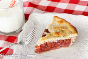 "Callie's Cherry Pie uses tart ""sour"" cherries to bring a full-flavored pie filling that is encased in flaky pastry dough that will melt in your mouth!"