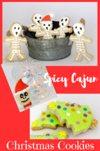 Spicy Cajun Christmas Sugar Cookies is a unique twist on a holiday favorite! Cayenne pepper brings a punch to cinnamon-y dough, adding a depth of flavor!
