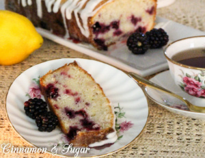 Blackberry Lemon Pound Cake is full of delicious summer flavor with a tender, rich crumb while the lemony icing adds another layer of yumminess!