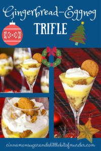 Gingerbread-Eggnog Trifle relies on convenience products during the busy holiday season, to create a decadent holiday-flavored dessert!