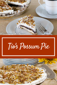 With a unique twist on this classic Arkansas favorite, Tío's Possum Pie gets its name because everything is 'hiding' or playing possum under the whipped cream.