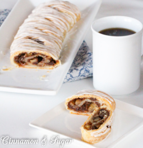 This Apple Strudel uses a couple unusual ingredients but the results are nothing but amazingly delicious! Sour cream and butter create the perfect flaky crust while crushed ginger cookies add body and a yummy flavor to the apple filling.