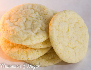 Lemon Crinkles are tart-sweet treats that are a bit crunchy on the outside and chewy on the inside. These cookies are best mixed up ahead and refrigerated for a few hours. The dough can even be shaped and then frozen for easy, spur-of-the-moment freshly-baked cookies!