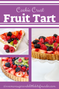 Sure to be a dessert that will impress your family and guests, Sugar Cookie Fruit Tart relies on convenience products to make it easy to prepare. The jewel-toned fresh fruit is complemented by the lemony cream cheese filling while the soft sugar cookie crust provides added sweetness.