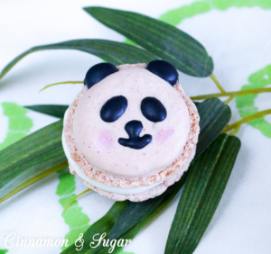 A playful rendition of the French, gluten-free, almond meringue cookie, Panda Macarons are filled with luscious white chocolate ganache. An elegant taste yet a fun design that kids of all ages will enjoy.