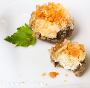 An elegant, delicious appetizer these Stuffed Mushroom Caps use only four simple ingredients and are a snap to put together!