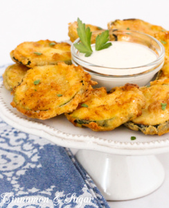 Viola's Fried Zucchini uses simple ingredients to complement farm-fresh summer squash, making them a fun appetizer to serve to family and friends.