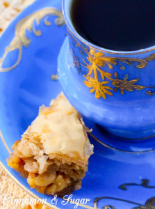 Lucy's Baklava combine layers of buttery phyllo dough, crunchy walnuts laced with cinnamon, and lemon-scented syrup to create a memorable dessert!