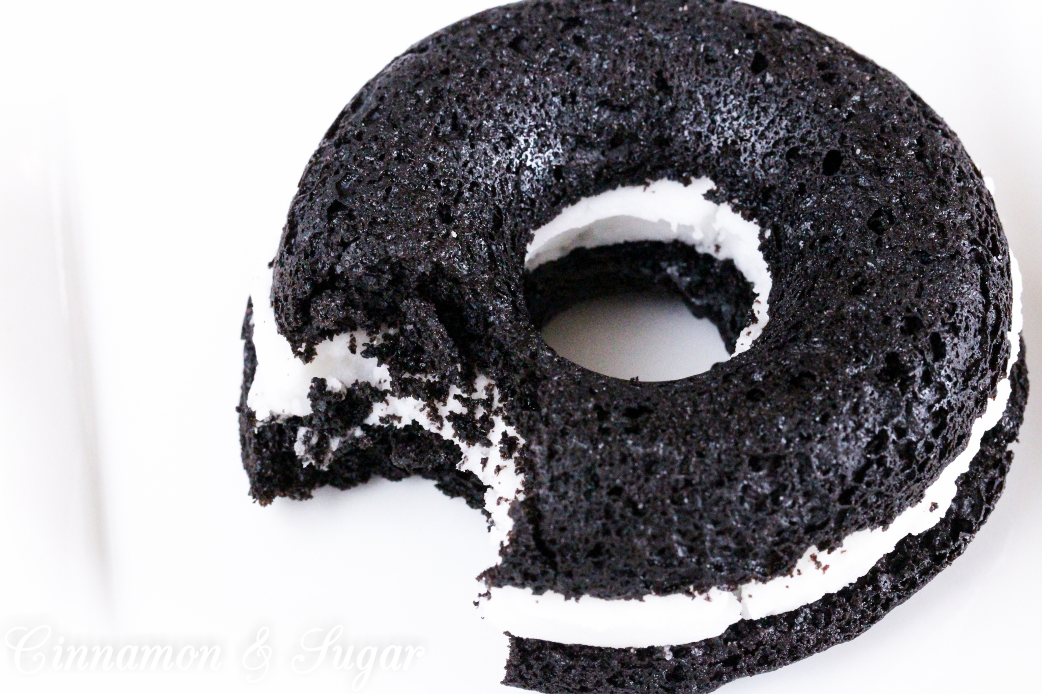 Black-and-White Baked Donuts