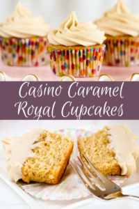 Casino Caramel Royale Cupcakes uses dark brown sugar to bring caramel notes to both the moist, substantial cupcakes and the rich frosting.