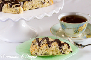 Dark Chocolate and Orange Scones combine two popular flavors in buttery scones while a drizzle of dark chocolate gives taste buds a sudden burst of flavor!