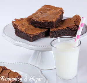 Fudgy & gooey, flaky sea salt enhances the intense chocolate flavor in Salted Chocolate Brownies. Perfect on their own or use as a base for a sundae!