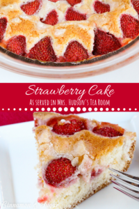 Tender, moist vanilla Strawberry Cake is topped with loads of fresh strawberries and is as delicious as it is beautiful without having to rely on frosting.
