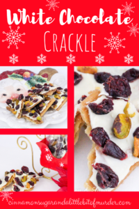 Part cookie, part candy, White Chocolate Crackle is a delicious, easy treat to make. Perfect for sharing with friends and family to celebrate the holidays!
