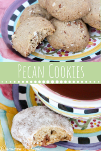 Using only 5 ingredients, vegan Pecan Cookies highlight the best of caramel flavors and buttery pecans. Serve plain or roll in confectioners' sugar for an extra burst of sweetness. Recipe shared with permission granted by Stephanie Blackmoore, author of cozy mystery, GOWN WITH THE WIND.