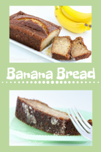 With an added layer of sugar coating the bottom for flavor and texture, this Banana Bread is super rich and moist, thanks to a generous amount of bananas. Recipe shared with permission granted by Paige Shelton, author of THE LOCH NESS PAPERS.