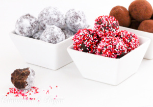 Spicy Chocolate Truffles use convenient ingredients to create a delicious candy that's perfect for gifting to family and friends for any special occasion!
