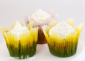 Gluten-Free Banana Cupcakes are very moist cupcakes that rely more on the bananas for their richness and flavor instead of being heavy on butter or oil. Recipe shared with permission granted by Eva Gates, author of cozy mystery SOMETHING READ SOMETHING DEAD.