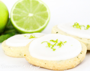 Mojito Cookies are shortbread-style treats that incorporate fresh mint and fresh limes, while a sweet, lime and rum infused icing is the crowning glory. Recipe from A DEADLY FEAST by Lucy Burdette.