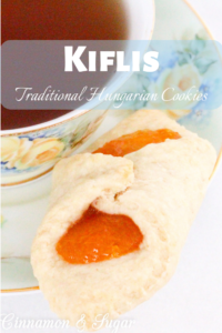 This adaptation of traditional Hungarian Kiflis cookies are a rich and flaky pastry that are delicious and elegant looking thanks to the jewel-toned lekvar filling. Recipe from Julia Buckley, author of DEATH IN A BUDAPEST BUTTERFLY.