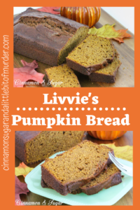Tender and moist without using a lot of vegetable oil, this pumpkin bread is full of warm spices and whole wheat flour that enhance the pumpkin. Recipe shared with permission granted by Barbara Ross, author of HAUNTED HO-- USE MURDER.