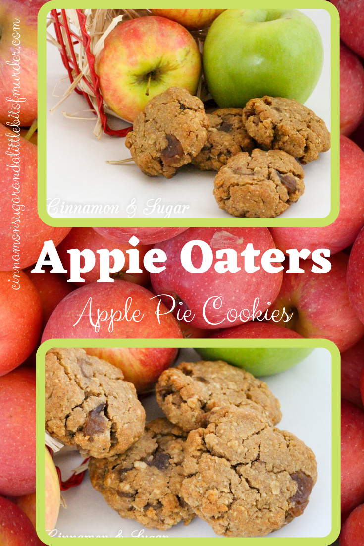Appie Oaters combine buttery, caramelized apples mixed into an oat cookie dough creating a treat that is reminiscent of apple pie. Perfect for snacks and even breakfast! Recipe shared with permission granted by Chelsea Thomas, author of APPLE DIE.