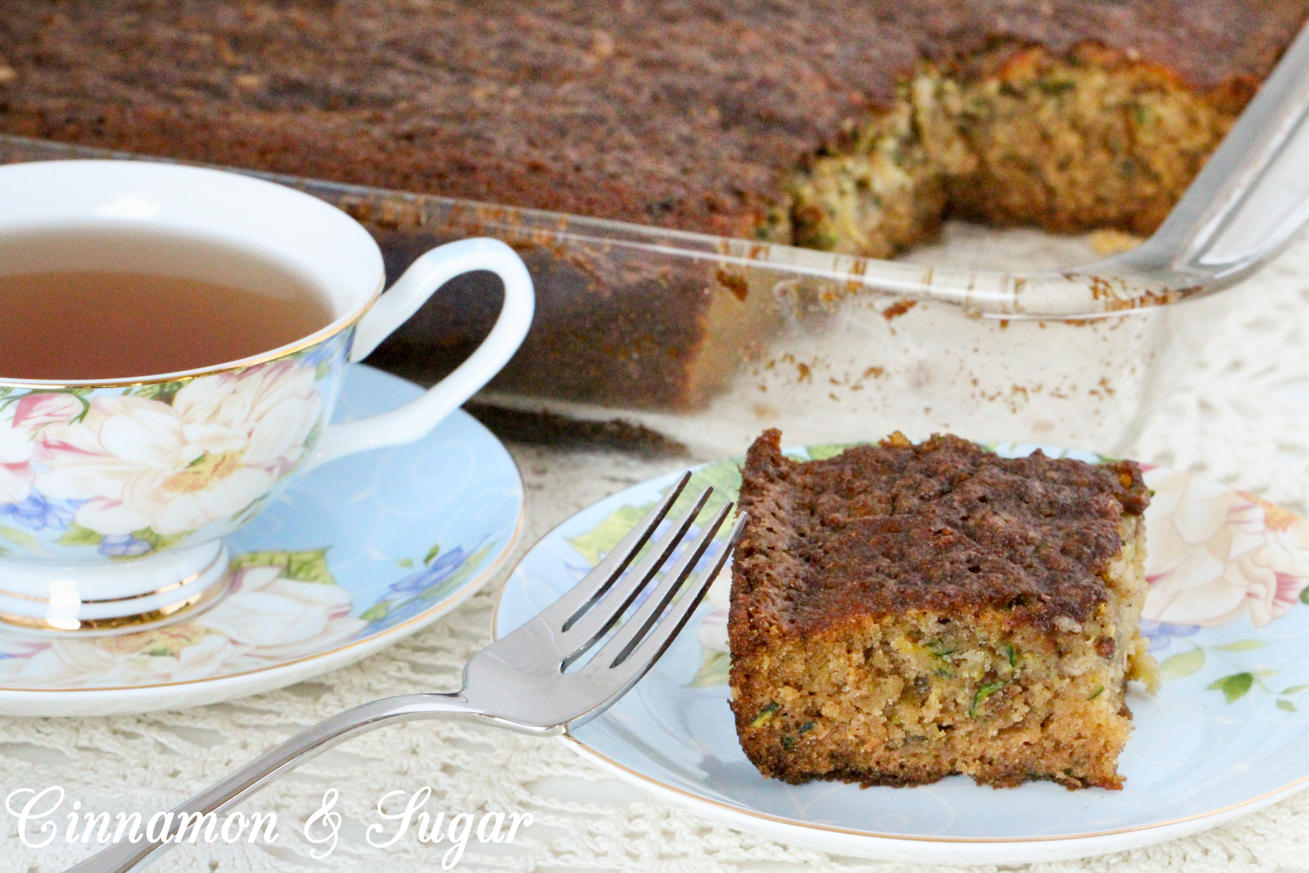 With a combination of both veggies and fruit, Zucchini Pineapple Cake is a supremely moist cake that's suitable for both dessert, snacks, or even breakfast. Recipe shared with permission granted by Krista Davis, author of THE DOG WHO KNEW TOO MUCH.