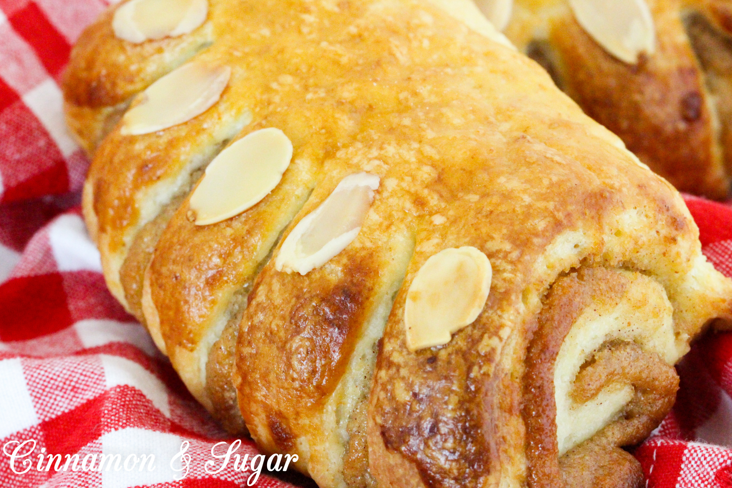 With flaky pastry encasing a sweet almond filling, these Almond Bear Claws are a scrumptious addition to breakfast, brunch, or coffee break! Recipe shared with permission granted by Elizabeth Logan, author of MOUSSE AND MURDER.
