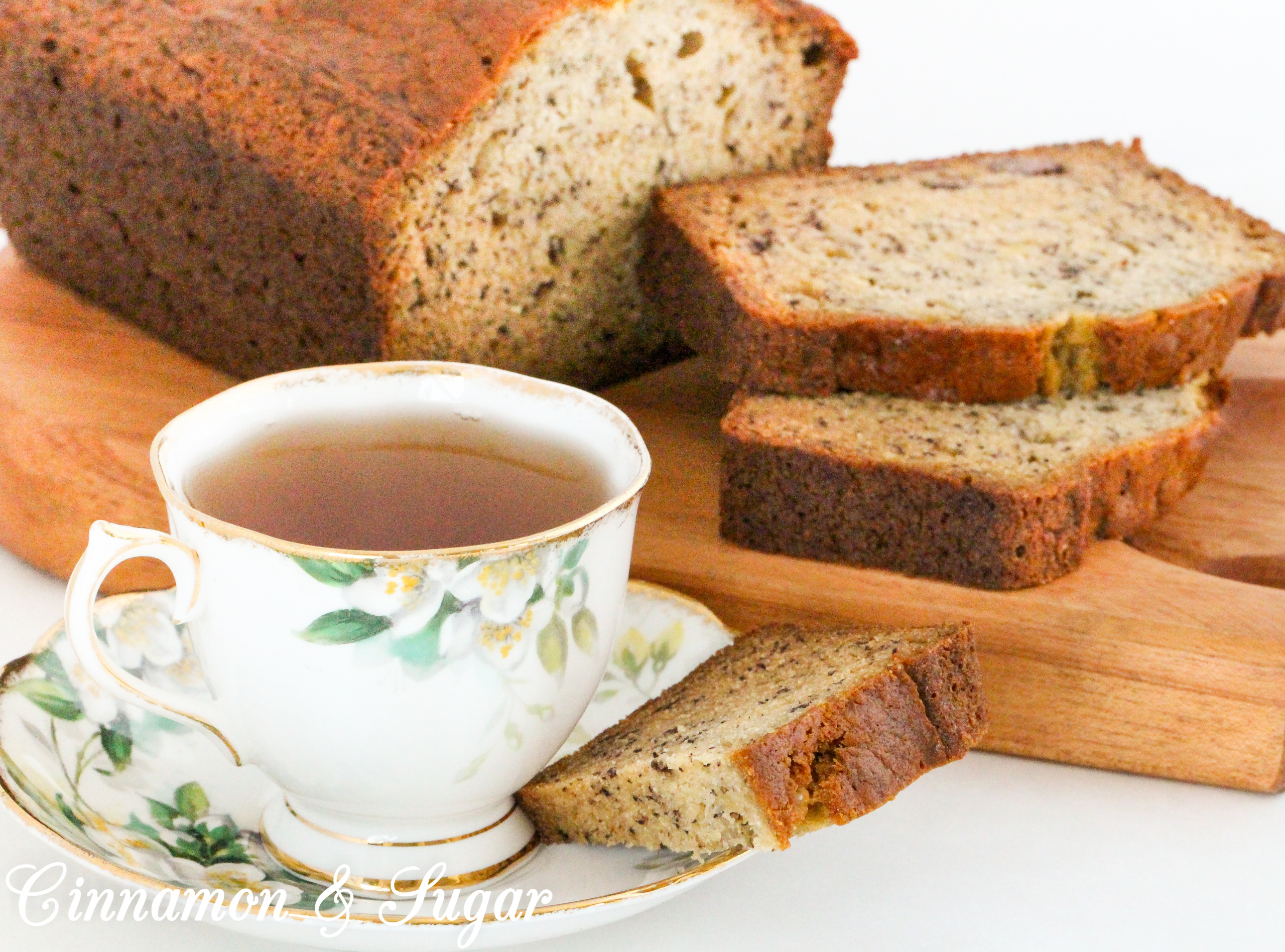 Hilda's No-Fail Banana Bread is quick and easy to mix up since a fork and bowls are the only equipment required. It doesn't take long for a sweet aroma to fill the air as the bread bakes and sliced warm with a pat of butter, this treat will hit the spot! Recipe shared with permission granted by Mary Lee Ashford, author of THE QUICHE OF DEATH.