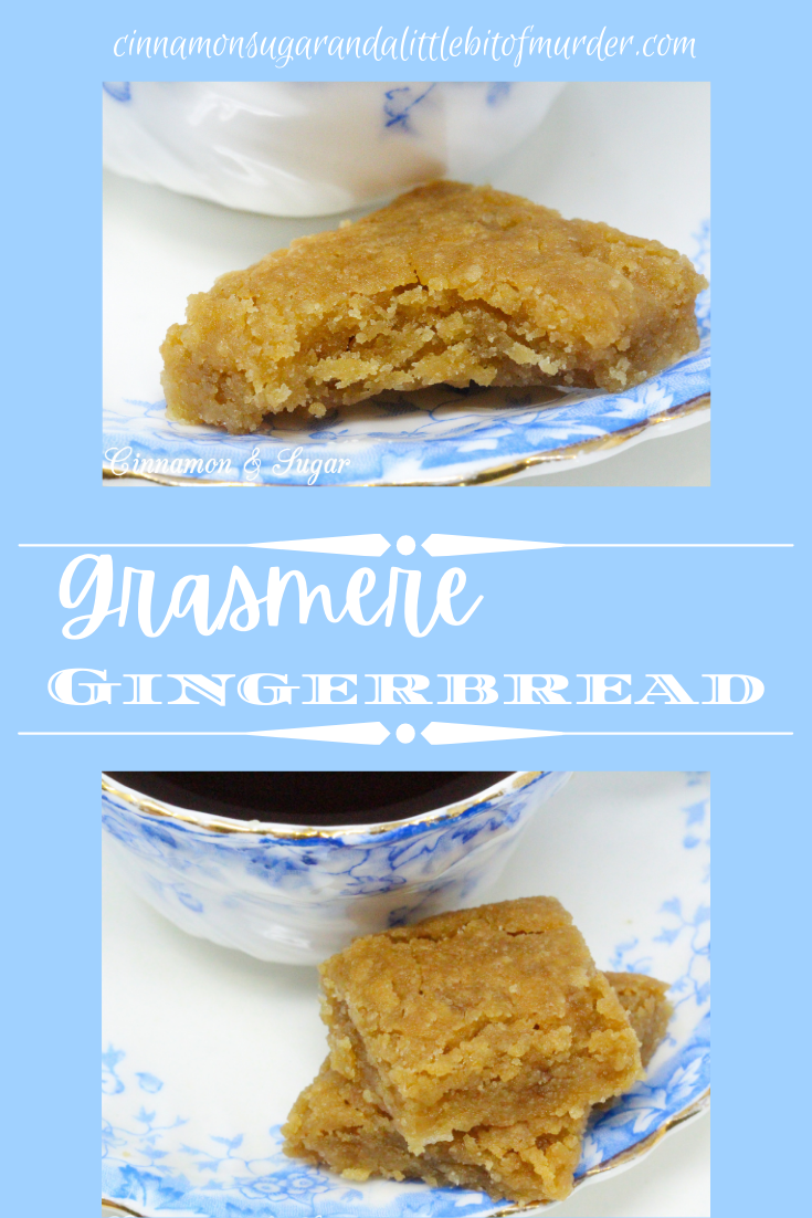 Using only six pantry-staple ingredients, Grasmere Gingerbread is sweet with a slight spicy bite from the crystalized candied ginger. The edges are crunchy and the inside of the bars are slightly chewy – the perfect balance. Recipe shared with permission granted by Maya Corrigan, author of GINGERDEAD MAN.