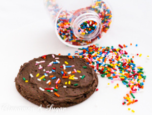 Soft and chewy chocolate cookies, the base uses only 3 simple ingredients! Recipe from CAKE POPPED OFF by Kim Davis.