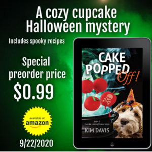 I'm celebrating Sprinkles of Suspicion gold medal book award with a book and gift card giveaway and a special preorder sale for Cake Popped Off!