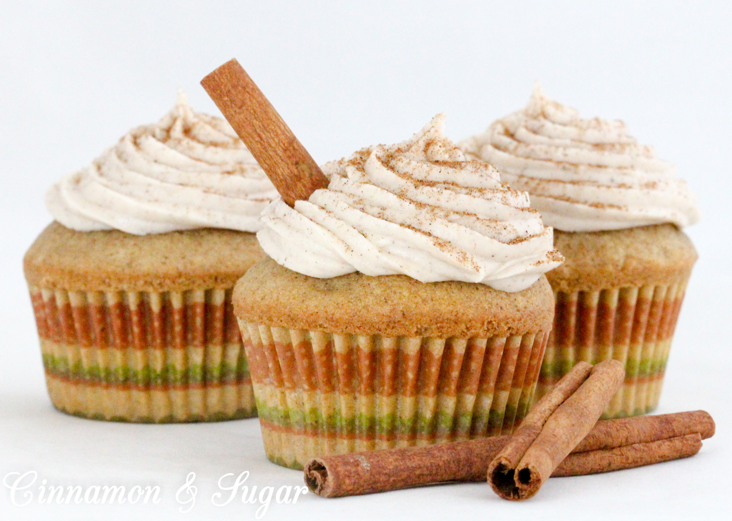 Chai Cupcakes are tender and flavorful thanks to a generous portion of chai spice blend and the tangy taste of cream cheese and chai spice frosting. Recipe from cozy mystery, CAKE POPPED OFF by Kim Davis.