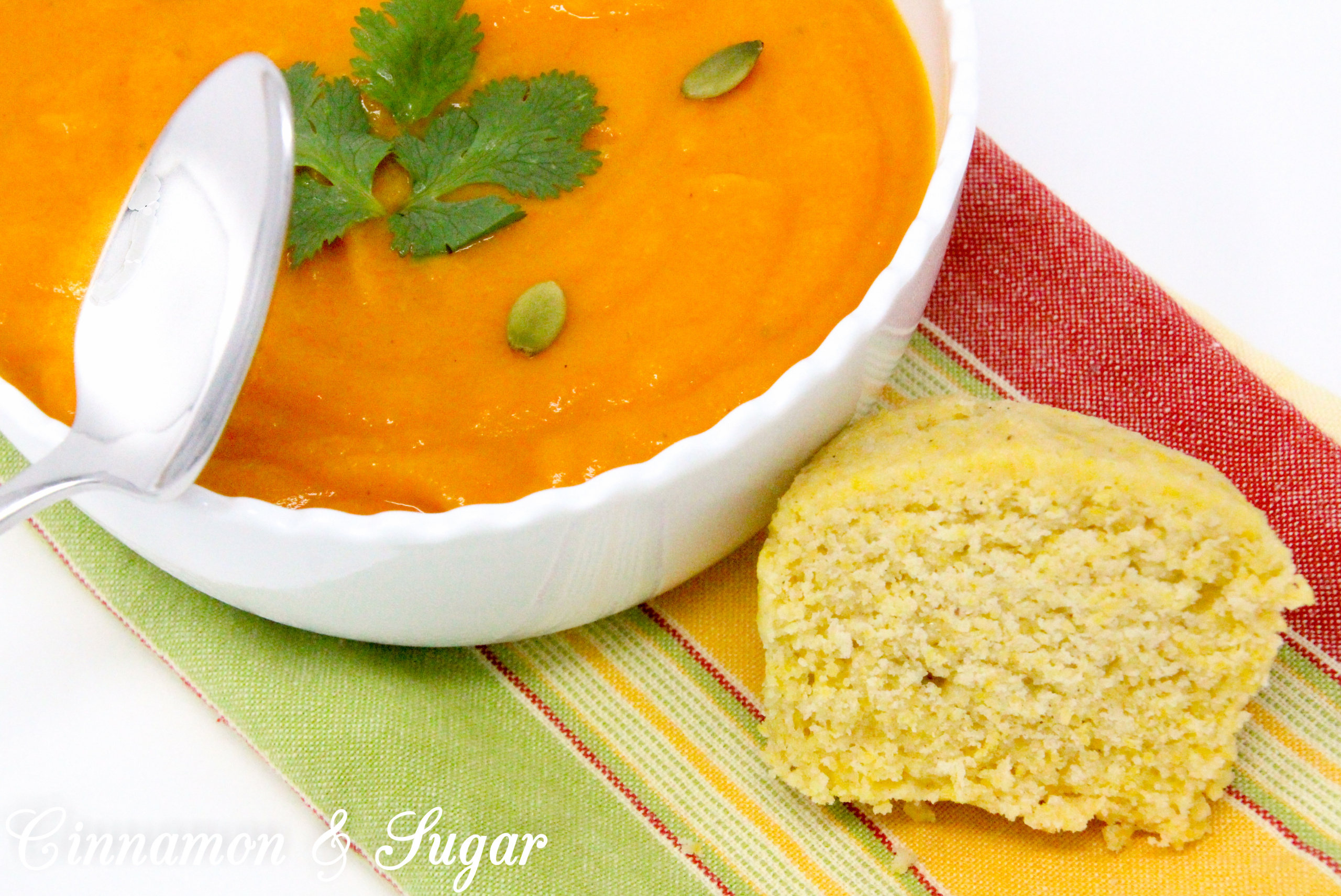 Combining warming spices and the rich-colored hue of sweet potatoes, Curried Sweet Potato Soup is a comforting and nourishing dish. Recipe shared with permission granted by Maureen Klovers, author of OF MASQUES AND MURDER.
