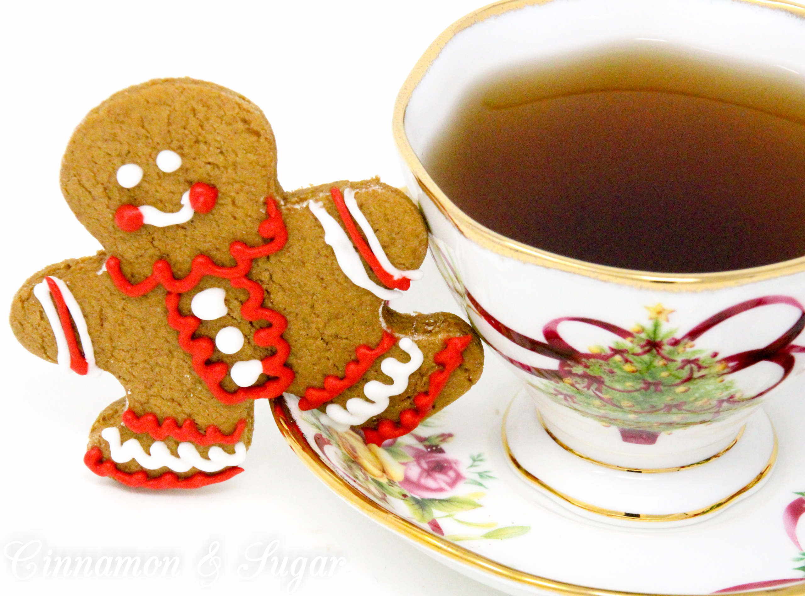 Gingerbread People are sweet, spiced cutout cookies that remain soft instead of overly crunchy. While gingerbread cookies are associated with Christmas, these yummy cookies are delicious anytime you desire a satisfying spiced cookie! Recipe shared with permission granted by Maddie Day, author of CANDY SLAIN MURDER.