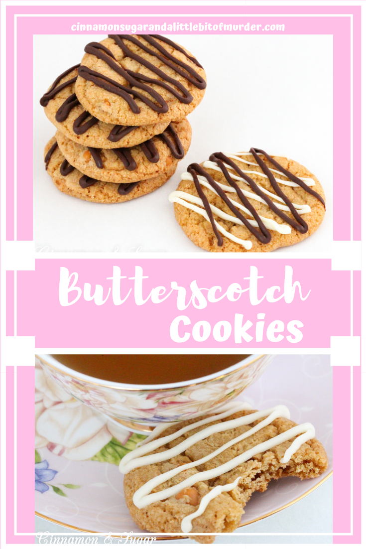 Butterscotch Cookies have a double dose of butterscotch flavors thanks to both melted butterscotch chips and whole chips added to the cookie dough. A generous amount of dark brown sugar further enhances the flavor. Recipe created by Kim Davis, author of SPRINKLES OF SUSPICION.