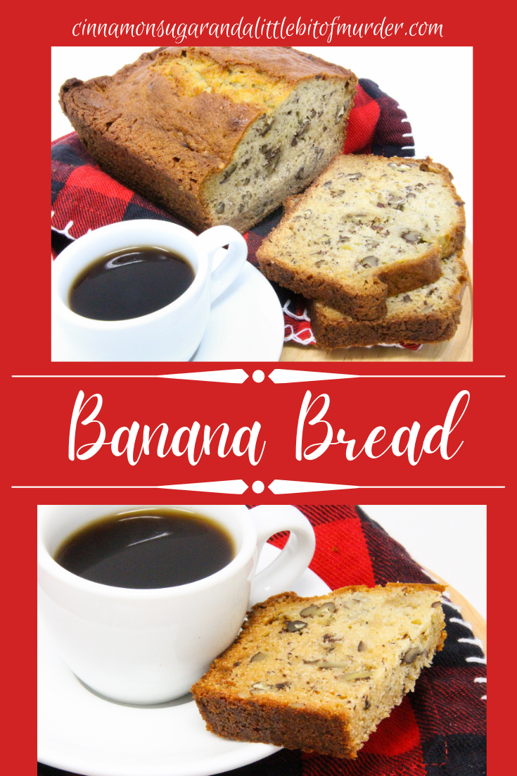 Easy to mix up, this moist sweet banana bread is delicious all on its own or slathered with sweet cream butter. Perfect for breakfast, a snack, or even dessert! Recipe shared with permission granted by Barbara Ross, author of SHUCKED APART.