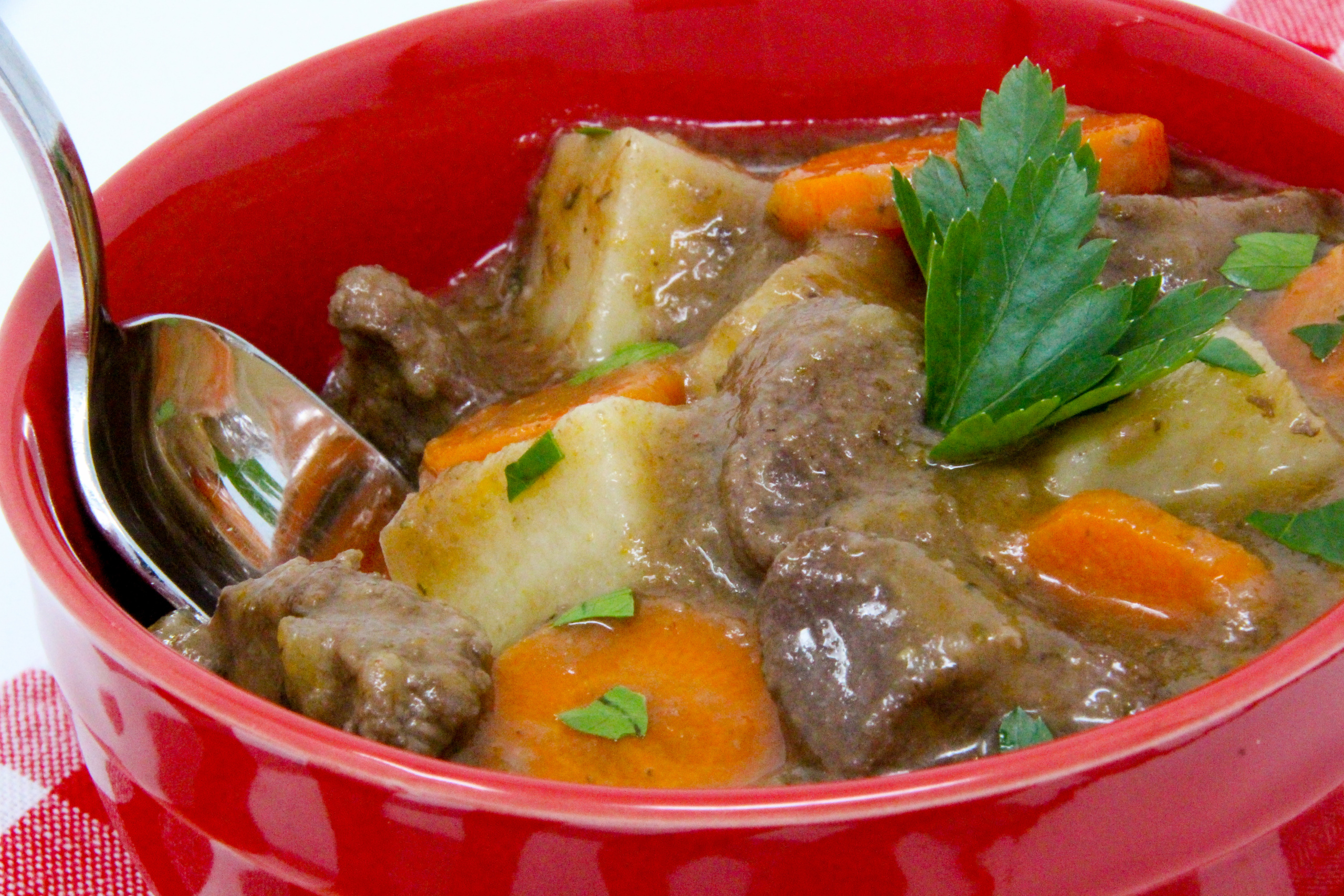 Eoin's Irish Stew is a hearty dish and chock full of flavor. This warming bowl of stew is the perfect dinner for a chilly night or a simple reheat for a filling lunch the next day! Recipe shared with permission granted by Carlene O'Connor, author of MURDER IN AN IRISH BOOKSHOP.