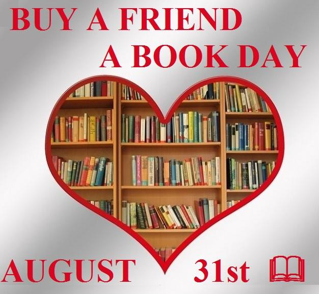 #giveaway winner's choice of 1 of my 4 books to celebrate Buy a Friend a Book Day August 31, 2021.