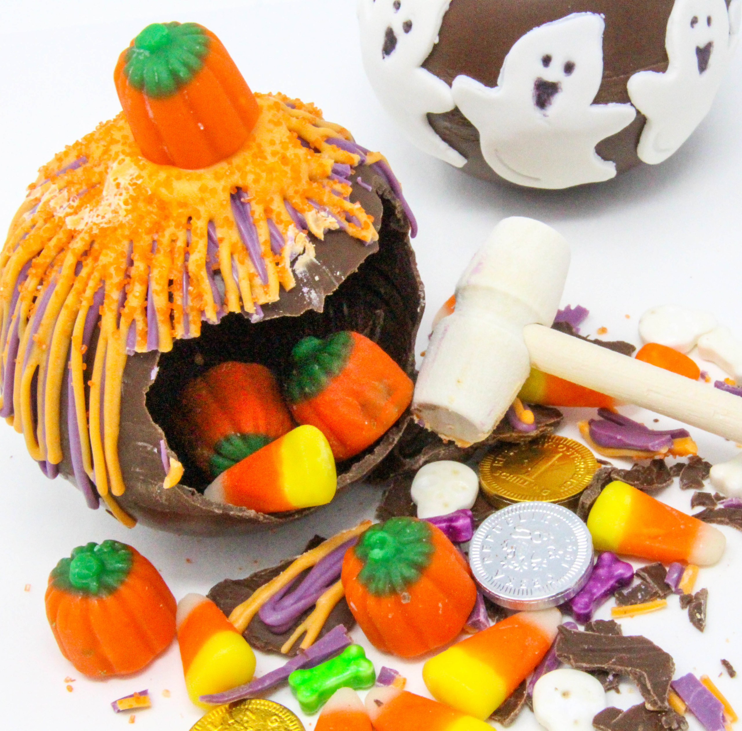 With easy to use candy melts, these fun chocolate smash bombs can be decorated and filled with colors and candies to fit any holiday or theme! Recipe created by Cinnamon & Sugar for Catherine Bruns, author of DESSERT IS THE BOMB.